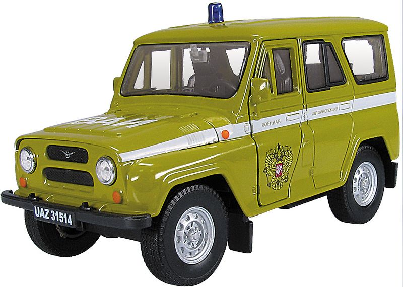 Autotime Модель автомобиля УАЗ-31514 ВАИ машинки autotime машина uaz 31514 почта