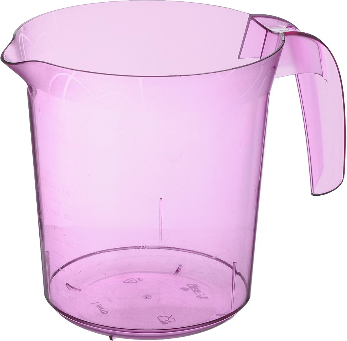 Стакан мерный Giaretti, цвет: сиреневый, 1 л68/5/4Мерный прозрачный стакан Giaretti выполнен из полистирола. Стакан оснащен удобной ручкой и носиком, которые делают изделие еще более простым в использовании. Он позволяет мерить жидкости до 1 л. Удобная форма стакана позволяет как отмерить необходимое количество продукта, так и взбить/замесить его непосредственно прямо в этой же емкости.Такой стаканчик пригодится каждой хозяйке на кухне, ведь зачастую приготовление некоторых блюд требует известной точности.Можно мыть в посудомоечной машине.Объем: 1 л.Диаметр (по верхнему краю): 13,5 см.Высота: 15 см.