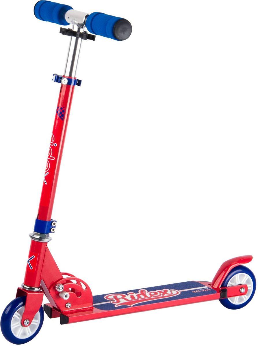 Самокат Ridex Gangster, 2-колесный, цвет: красный, синий, 100 мм самокат ridex drifter 100