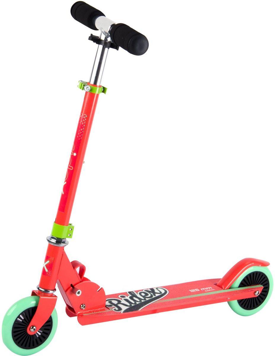 Самокат Ridex Coral, 2-колесный, цвет: коралловый, мятный, 125 мм499-182Модель самоката бренда Ridex с колёсами 125 миллиметров обладает всеми характеристиками, обеспечивающими безопасность Вашего ребенка в процессе катания. Мягкие полиуретановые колеса, отличающиеся мобильностью, с качественными подшипниками ABEC - 7 обеспечат плавный разгон и маневренность на поворотах. Пенные ручки созданы для приятного и удобного сцепления с ладонями ребенка.