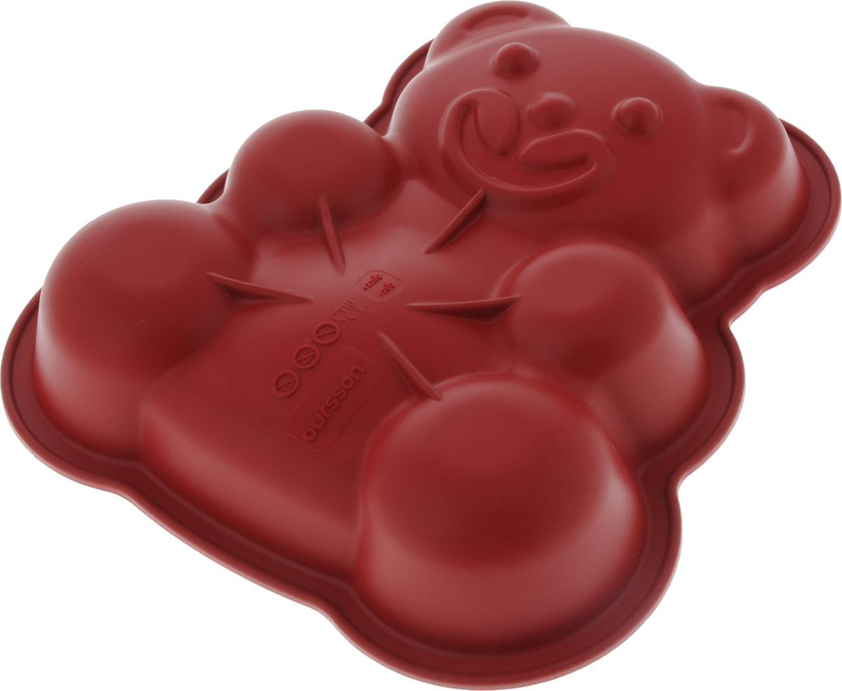 Форма для выпечки Oursson Медведь, силиконовая, 25 х 24 х 5 см1Г3-4Форма для выпечки Oursson Медведь, выполненная из силикона, будет отличным выбором для всех любителей домашней выпечки. Форма имеет форму медвежонка.Силиконовые формы для выпечки имеют множество преимуществ по сравнению с традиционными металлическими формами и противнями. Нет необходимости смазывать форму маслом. Она быстро нагревается, равномерно пропекает, не допускает подгорания выпечки с краев или снизу.Вынимать продукты из формы очень легко. Слегка выверните края формы или оттяните в сторону, и ваша выпечка легко выскользнет из формы.Материал устойчив к фруктовым кислотам, не ржавеет, на нем не образуются пятна. Форма может быть использована в духовках и микроволновых печах (выдерживает температуру от -20°С до +220°С), также ее можно помещать в морозильную камеру и холодильник.Размер формы: 25 х 24 х 5 см.