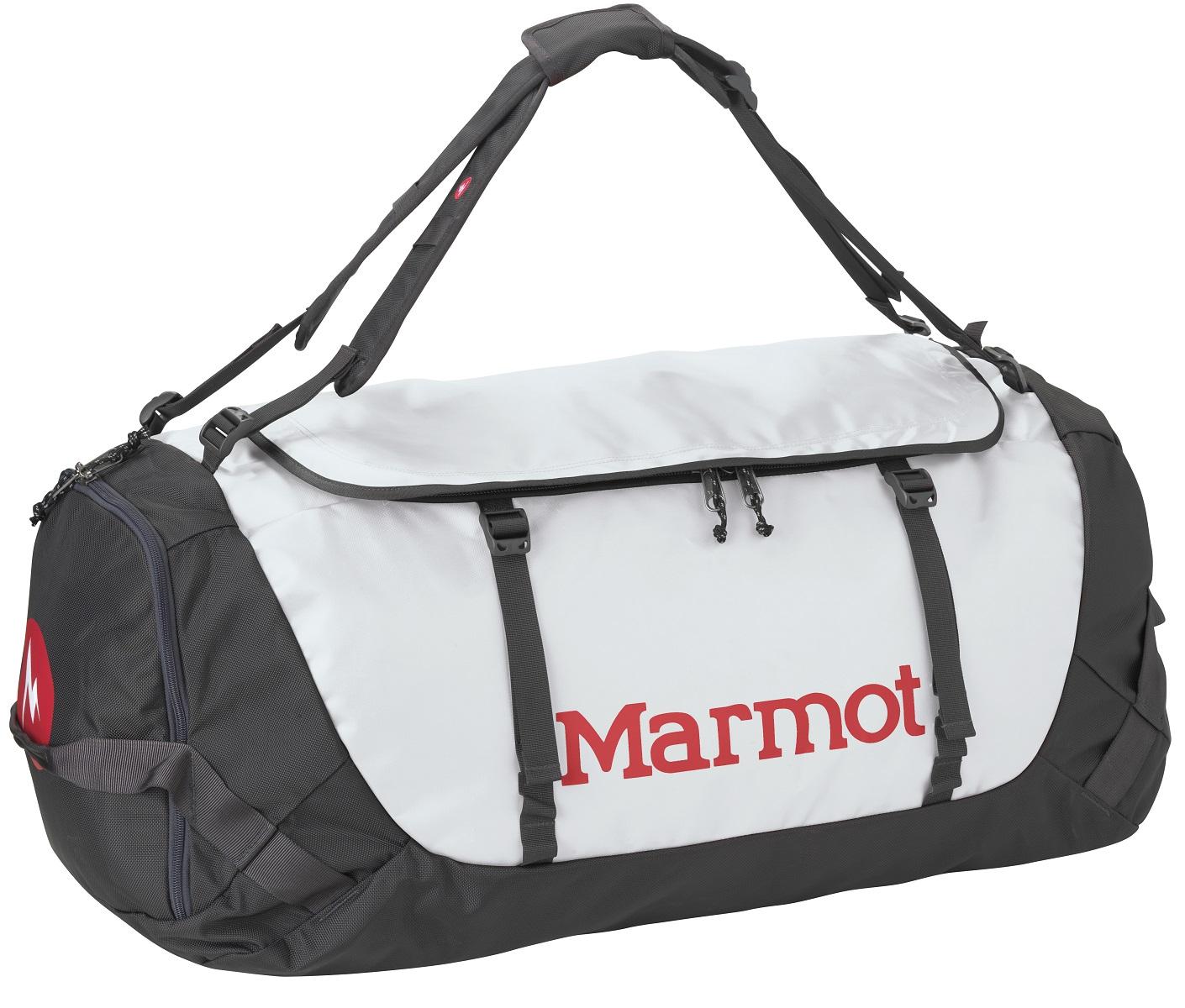 Сумка дорожная Marmot Long Hauler Duffel Bag Large, цвет: серый, 75 л25150-1230-LПрочная дорожная сумка Marmot Long Hauler Duffel Bag Large имеет возможность переноски в виде рюкзака. Выполнена из нейлона и полиэстера. Сумка оснащена ремнем через плечо, и ручками для переноски.Особенности:- Медиа-карман на молнии/Карман-органайзер.- D-образная верхняя молния.- Внутренний карман на молнии.- Надежные застежки-молнии уберегут сумку от внезапного открытия.- Петли для переноски расположены с обеих сторон.