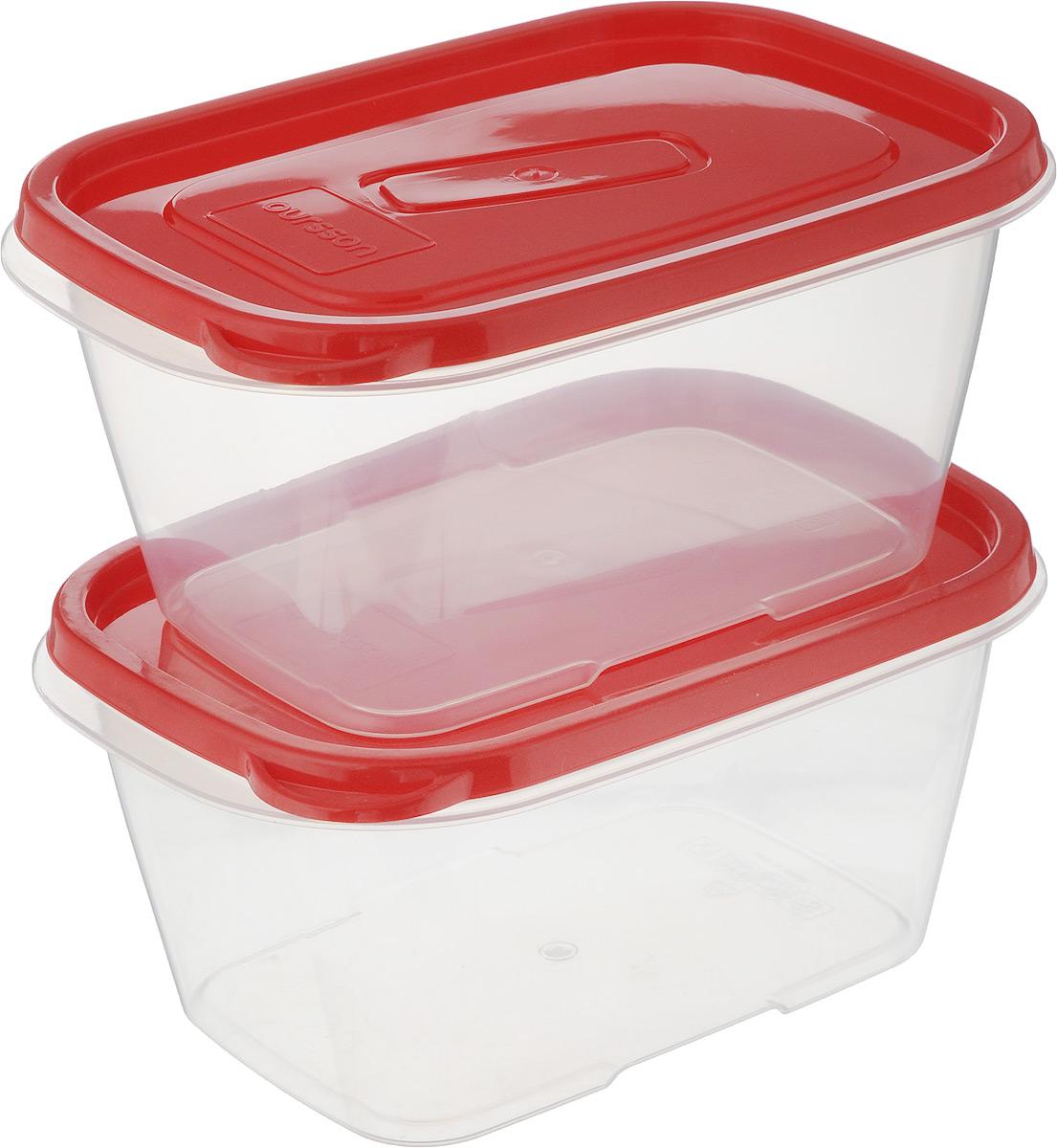 Набор контейнеров Oursson, прямоугольные, 1,1 л, 2 штHPL825Набор Oursson состоит из двух контейнеров, которые изготовлены из высококачественного пластика. Изделие идеально подходит не только для хранения, но и для транспортировки пищи. Контейнеры оснащены плотно закрывающимися крышками. Выдерживают температуру от -24°С до +125°С. Можно использовать в СВЧ-печах, холодильниках и морозильных камерах. Можно мыть в посудомоечной машине. Размер контейнера (без учета крышки): 19 х 13 см. Высота контейнера (без учета крышки): 8,5 см.Объем контейнера: 1,1 л.