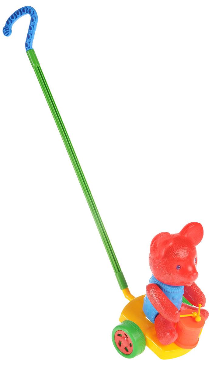 Wieslaw Suchanek Игрушка-каталка Мишка с барабаном цвет красный голубой желтый каталка утенок с ластами max suchanek