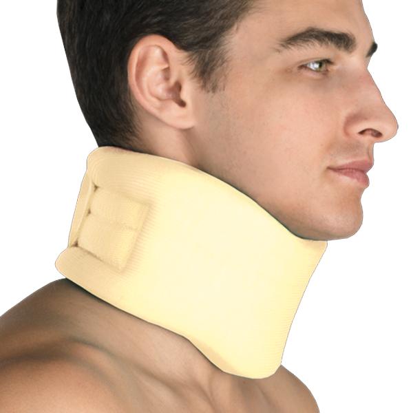 Фиксатор для шейного отдела позвоночника, мягкий. Размер 3GESS-014Предназначен для его фиксации, стабилизации и снижения нагрузки, а также для нормализации тонуса мышц шеи.Состав сырья: пенополиуретан – 90%, хлопок – 10%С застежкой velcro
