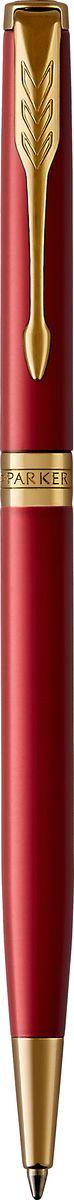 Parker Ручка шариковая Sonnet Slim Laque Red GTBL-G1-5T-RШариковая ручка Parker Sonnet Slim Red GT - идеальный инструмент для письма. Материал ручки - нержавеющая сталь с покрытием глянцевого лака глубокого красного цвета, в отделке применяется позолота 23К. Зона захвата - пластик. Способ подачи стержня: поворотный.Данный пишущий инструмент поставляется в фирменной подарочной коробке премиум-класса, что делает его превосходным подарком.Произведено во Франции.