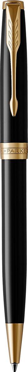 Шариковая ручка Parker Sonnet Black Laque GT - идеальный инструмент для письма. Материал ручки - нержавеющая сталь с покрытием глянцевого лака черного цвета, в отделке применяется позолота 23К. Способ подачи стержня: Поворотный.Данный пишущий инструмент поставляется в фирменной подарочной коробке премиум-класса, что делает его превосходным подарком.Произведено во Франции.