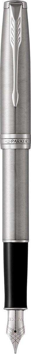 Parker Ручка перьевая Sonnet Stainless Steel СT0775B001Марка Parker гарантирует полную уверенность в превосходном качестве товара. Перьевая ручка Parker Sonnet Stainless Steel СT будет не только долго служить, но и неизменно радовать удобством и легкостью письма, надежностью в эксплуатации и прекрасным эстетическим исполнением. Перьевая ручка Parker Sonnet Stainless Steel СT выполнена в корпусе из шлифованной нержавеющей стали и декоративными элементами, покрытыми палладием. Перо изготовлено из нержавеющей стали. Форма ручки - круглая. Перьевая ручка Parker Sonnet Stainless Steel СT аккуратно упакована в футляр с откидной крышкой.Вложение: Конвертер S0102040 и 2 черных картриджа
