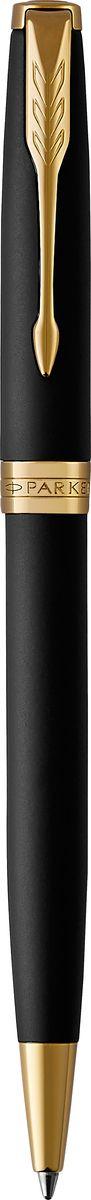 Parker Ручка шариковая Sonnet Matte Black GT1106100Шариковая ручка Parker Sonnet Matte Black GT - идеальный инструмент для письма. Материал ручки - латунь с покрытием матового лака черного цвета с сатиновым эффектом, в отделке применяется позолота. Способ подачи стержня: поворотный.Данный пишущий инструмент поставляется в фирменной подарочной коробке премиум-класса, что делает его превосходным подарком.Произведено во Франции.