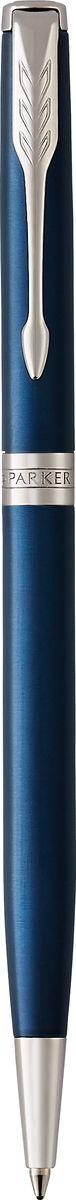 Parker Ручка шариковая Sonnet Slim Laque Blue CT141304Шариковая ручка Parker Sonnet Laque Blue CT - идеальный инструмент для письма. Материал ручки - нержавеющая сталь с покрытием глянцевого лака изысканного синего цвета, в отделке применяется палладий. Способ подачи стержня: поворотный.Данный пишущий инструмент поставляется в фирменной подарочной коробке премиум-класса, что делает его превосходным подарком.Произведено во Франции.