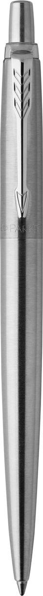 Parker Ручка шариковая Jotter Stainless Steel CT730396Шариковая ручка Parker Jotter Stainless Steel CT изготовлена из полированной нержавеющей стали с лазерной гравировкой на колпачке. Способ подачи стержня: кнопочный. Ручка упакована в фирменный футляр.Бренд Parker гарантирует полную уверенность в превосходном качестве товара. Ручка Parker будет не только долго служить, но и неизменно радовать удобством и легкостью письма, надежностью в эксплуатации и прекрасным эстетическим исполнением. Удивительное разнообразие моделей, а также великолепие и надежность отделки поверхностей позволяют удовлетворить даже самые взыскательные вкусы, обеспечивая при этом безукоризненность исполнения самых разных задач в процессе письма.