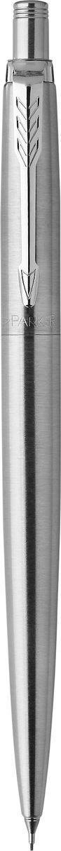Parker Карандаш механический Jotter Stainless SteelPARKER-1953381Механический карандаш Parker Jotter Stainless Steel из популярной коллекции Jotter - это статусный и ценный подарок. Материал карандаша - нержавеющая сталь и пластик, в отделке применяется зеркальный хром.В карандаше используются грифели диаметром 0,5 мм. В комплект поставки входят 3 грифеля, заправленные в карандаш. Данный пишущий инструмент поставляется в фирменной картонной коробке. В комплекте также гарантийный талон с международной гарантией на 2 года.Произведено во Франции.
