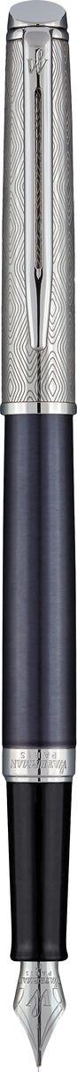 Waterman Ручка перьевая Hemisphere La Collection Privee Saphir Nocturne цвет чернил синийBPRG-10R-F-BПерьевая ручка Waterman Hemisphere La Collection Privee Saphir Nocturne - это незаменимый предмет на любом рабочем столе. Такая ручка обеспечит четкий цвет и мягкое письмо.Особенности:Материал корпуса: стальПокрытие корпуса: Матовое покрытие цвета синие ночиМатериал отделки деталей корпуса: полированная стальКолпачок из полированной стали с уникальной лазерной гравировкой. Кольцо с гравировкой Waterman Paris. Способ подачи стержня: с колпачкомЦвет чернил - синийТолщина письма - тонкаяВложение: 1 картридж