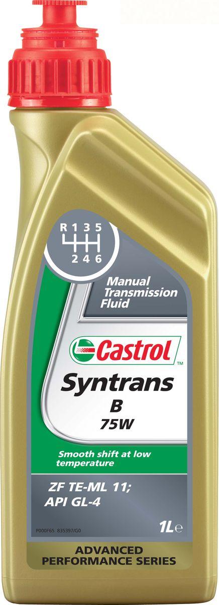 Трансмиссионое масло для механических кпп Castrol Syntrans B 75W, 1 лкн12-60авцОписаниеCastrol Syntrans B 75W – полностью синтетическое трансмиссионное масло, одобренное поспецификации ZF TE-ML 11, для использования в продольно расположенных механическихкоробках передач автомобилей BMW.Преимущества- Превосходная защита шестерен и подшипников, что особенно важно в работе продольнорасположенных механических коробок передач.- Исключительная текучесть при низких температурах способствует плавному переключениюпередач.- Высокая стабильность к сдвигу обеспечивает постоянную величину вязкости в течениесрока службы масла.- Отличные термическая стабильность и стойкость к окислению поддерживают чистотудеталей механической коробки передач, продлевают срок службы масла и защищаютуплотнения.СпецификацииAPI GL-4ZF TE-ML 11