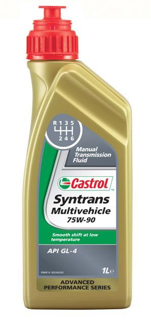 Масло трансмиссионное Castrol Syntrans Multivehicle, синтетическое, для механических кпп, класс вязкости 75W-90,1 лS03301004Castrol Syntrans Multivehicle – полностью синтетическое трансмиссионное масло, рекомендованное для большинства механических коробок передач, где требуется смазочный материал, соответствующий классификации API GL-4. Успешно используется для решения проблемы переключения передач при низких температурах в механических трансмиссиях ряда производителей оборудования.Преимущества:- Превосходная синхронизирующая характеристика способствуют увеличению срока службы синхронизаторов и комфортному переключению передач.- Исключительные низкотемпературные свойства обеспечивают плавное переключение передач при низких температурах.- Высокая стабильность к сдвигу поддерживает заданное значение вязкости масла на протяжении сервисного интервала и снижает шум.- Отличные термическая стабильность и стойкость к окислению поддерживают чистоту деталей трансмиссии и продлевают срок службы жидкости.- Эффективное снижение рабочих температур увеличивает ресурс масла и способствует экономии топлива.Спецификации:- API GL-3 / GL-4,- Ford WSD-M2C200-C,- MB-Approval 235.72.Товар сертифицирован.