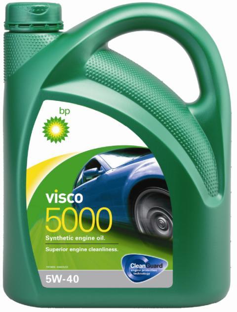 Моторное масло BP Visco 5000 5W-40 4, 4 л15A4E0ОписаниеМоторные масла BP Visco CleanGuard™ препятствуют образованию отложений в двигателе, обеспечивая его бесперебойную работу. Система Clean Guard™ защищает двигатель и дольше поддерживает его в чистоте.Чистый двигатель прослужит дольше и будет работать более эффективно.В условиях повседневной эксплуатации автомобиля в двигателе скапливаются продукты сгорания. Если эти примеси своевременно не удалить, они будут образовывать отложения, которые зачастую становятся главной причиной снижения эффективности работы двигателя и его поломок. Моторные масла BP Visco CleanGuard™ содержат особые компоненты, которые предотвращают образование вредных отложений на стенках рабочих поверхностей двигателя.ПрименениеМоторное масло BP Visco 5000 5W-40 предназначено для бензиновых и дизельных двигателей автомобилей, где производитель рекомендует смазочные материалы класса вязкости SAE 5W-40 спецификаций ACEA A3/B3, A3/B4, API SN/CF или более ранних.BP Visco 5000 5W-40 одобрено к применению большим количеством производителей техники (см. раздел спецификаций и руководство по эксплуатации автомобиля).ПреимуществаBP Visco 5000 5W-40 – синтетическое моторное масло премиум-класса со следующими преимуществами:• превосходная чистота двигателя;• повышенная защита двигателя в нормальных условиях эксплуатации;• улучшенная экономия топлива.СпецификацииACEA A3/B3, A3/B4API SN/CFBMW Longlife-01MB-Approval 229.3Renault RN 0700 / RN 0710VW 502 00/ 505 00