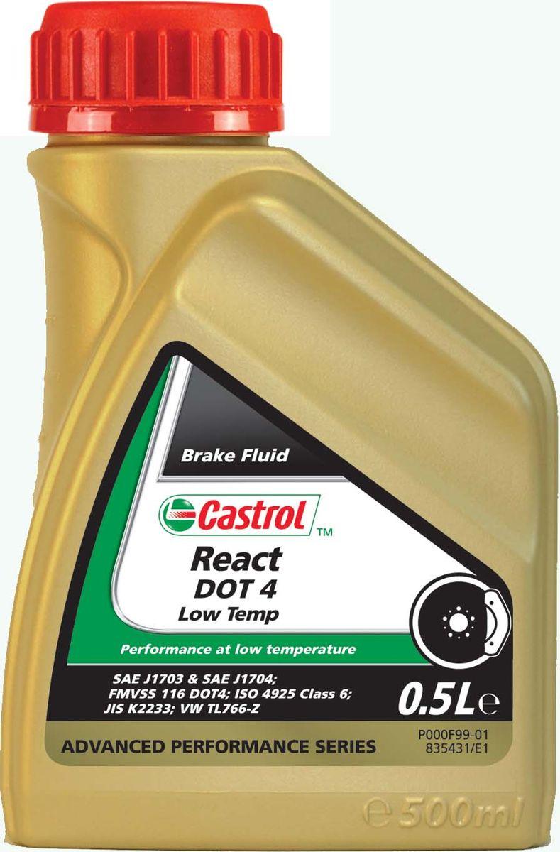 Тормозная жидкость Castrol React DOT 4 Low TempS03301004ОписаниеCastrol React DOT 4 Low Temp – высокоэффективная синтетическая тормозная жидкость на основе гликолевыхэфиров и борсодержащих сложных эфиров.Подходит для использования в современных тормозных системах, оснащённых электронными системамиуправления устойчивостью автомобиля. Отличная низкотемпературная характеристика вязкости помогаетобеспечить плавную и контролируемую работу тормозного механизма, особенно в экстремальных условиях.ПрименениеТормозная жидкость Castrol React DOT 4 Low Temp проявляет не только превосходную эффективность привысоких температурах; её композиция разработана таким образом, чтобы обеспечить улучшенныенизкотемпературные свойства. Она специально создана, чтобы иметь пониженную вязкость при низкихтемпературах, рекомендованную рядом производителей техники, чтобы обеспечить быстроту и надёжность работыих электронных систем управления устойчивостью автомобиля (ESP и ABS).Гидравлическое давление, создаваемое в тормозной системе, передаётся на тормоза. Высоковязкие жидкостиболее медленно передают давление и приводят в действие тормозную систему. Этот же новый тип маловязкойжидкости обеспечивает более быструю реакцию тормоза, тем самым, увеличивая безопасность вождения вусловиях гололедицы.Тормозная жидкость Castrol React DOT 4 Low Temp соответствует требованиям новой спецификации ISO 4925Class 6, рекомендуемой большинством производителей автомобилей, включая VW, BMW и европейскимподразделением GM.Castrol React DOT 4 Low Temp полностью совместима с другими жидкостями соответствующими спецификациямFMVSS 116 DOT 3, DOT 4 и DOT 5.1. Тем не менее, для того, чтобы сохранить исключительные эксплуатационныехарактеристики этого продукта, избегайте смешения с другими тормозными жидкостями.Все обычные тормозные жидкости разрушаются во время использования. Настоятельно рекомендуется менятьCastrol React DOT 4 Low Temp в соответствии с предписаниями производителей техники. В случае отсутствияпредписаний, 