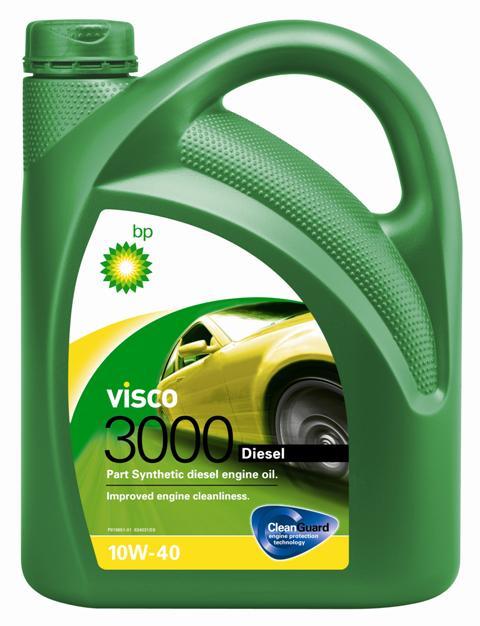 Моторное масло BP Visco 3000 Diesel 10W-40 4, 4 лS03301004ПрименениеBP Visco 3000 Diesel 10W-40 с технологией защиты двигателя Cleanguard – это полусинтетическое моторное масло для использования в дизельных двигателях легковых автомобилей, где производитель рекомендует масла соответствующие стандартам API SL/CF или ACEA A3/B3, или более ранним спецификациям.Visco 3000 Diesel 10W-40 также одобрено к применению в двигателях автомобилей VW и Mercedes, где требуются масла спецификаций VW 505 00 или MB 229.1.Основные преимуществаCleanGuardTM – это надежная защита Вашего двигателя.BP Visco. Чистый двигатель. Еще дольше.BP Visco 3000 Diesel 10W-40 – всесезонное полусинтетическое моторное масло с высокими эксплуатационными характеристиками. Обеспечиваются следующие преимущества:- Чистота двигателя способствует снижению износа и увеличению срока службы двигателя благодаря CleanGuardTM.- Дополнительная защита от износа в условиях интенсивной повседневной эксплуатации.- Пониженный расход масла на угар.Спецификации • ACEA A3/B3, A3/B4• API SL/CF• VW 501 01/ 505 00• MB-Approval 229.1