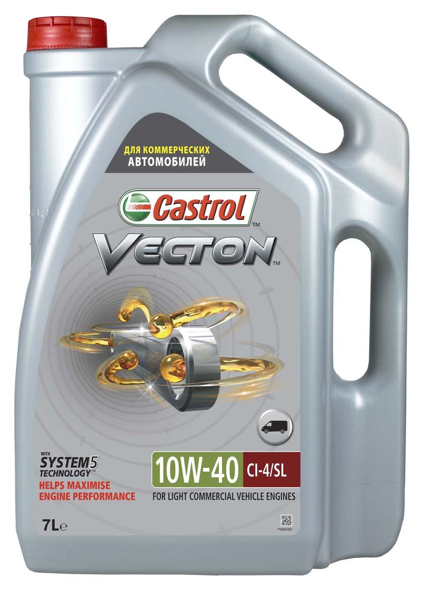 """Моторное масло Castrol Vecton 10W-40, 7 лS03301004ОписаниеCastrol Vecton 10W-40 – моторное масло с синтетическими компонентами для дизельныхдвигателей коммерческой техники европейских и американских производителей. Произведено сиспользованием уникальной технологии """"System 5""""TM, позволяющей достичь повышенияэффективности работы масла вплоть до 40%*.ПрименениеCastrol Vecton 10W-40 предназначено для дизельных двигателей грузовых автомобилей,автобусов, а также строительной, горной и сельскохозяйственной техники европейских иамериканских производителейПреимуществаСовременные двигатели работают в постоянно изменяющихся условиях, которые влияют наэффективность их работы. Castrol Vecton 10W-40 c технологией """"System 5""""TM адаптируется к этимизменениям, позволяя максимально реализовать следующие ключевые эксплуатационныехарактеристики:1 потребление топлива: противостоит повышению вязкости масла, сохраняя оптимальныйрасход горючего;2 расход масла: предотвращает образование отложений на поршне, снижая потреблениесмазочного материала;3 интервалы замены масла: эффективно нейтрализует загрязнения, способствуяувеличению интервалов между сервисным обслуживанием;4 защита деталей: защищает от износа и коррозии металлические пары трения, продлеваясрок службы компонентов двигателя;5 мощность: противодействует агломерации сажи, не допуская ухудшения эффективностиработы двигателя на протяжении всего срока между заменами масла.*согласно испытаниям Castrol Vecton 10W-40, проведенным в независимой лаборатории,превышение требований отраслевой спецификации API достигало 40% в таких тестах, какстойкость к окислению, отложения на поршне, диспергирование сажи, противоизносные свойства изащита от коррозии.СпецификацииACEA E7API CI-4/SLCummins CES 20.076, 20.077, 20.078CAT ECF-2Deutz DQC III-10Mack EO-M PlusMAN M 3275MB-Approval 228.3/229.1DAF HP-2RVI RLD-2Volvo VDS 3"""