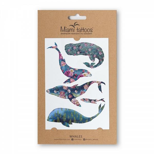 Акварельные переводные тату Miami Tattoos Whales, 1 лист 10см*15смMT0028Miami Tattoos - это дизайнерские переводные тату-украшения. Коллекция акварельных тату Whales – это настоящие картины на вашей коже! Для производства Miami Tattoos используются только качественные,?яркие?и?стойкие?краски. Они?не вызывают аллергию идержатся?до семи?дней!