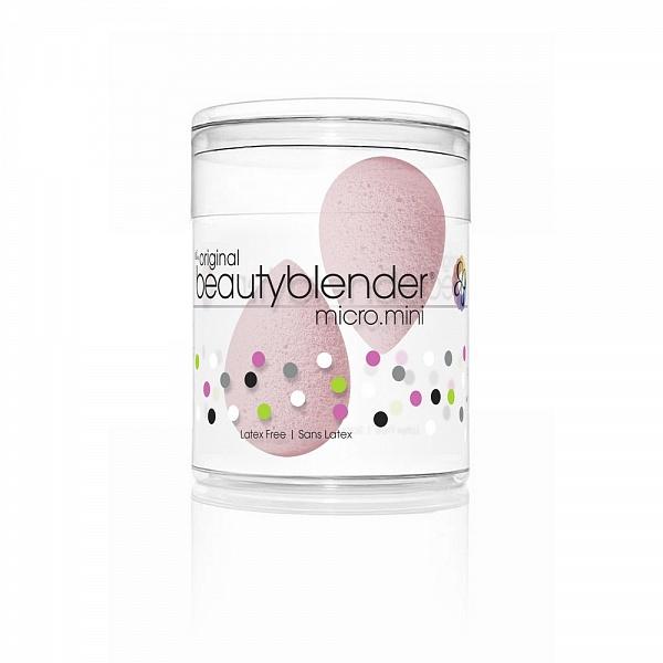 2 спонжа Beautyblender micro.mini bubble спонжи пальчики