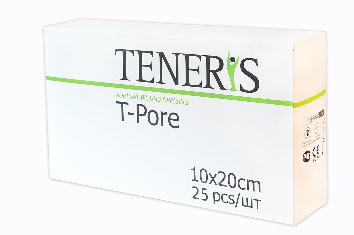 Teneris Раневая (послеоперационная) стерильная повязка на нетканной основе T-Pore, 65 х 255 х 145 мм, 25 шт - Перевязочные материалы