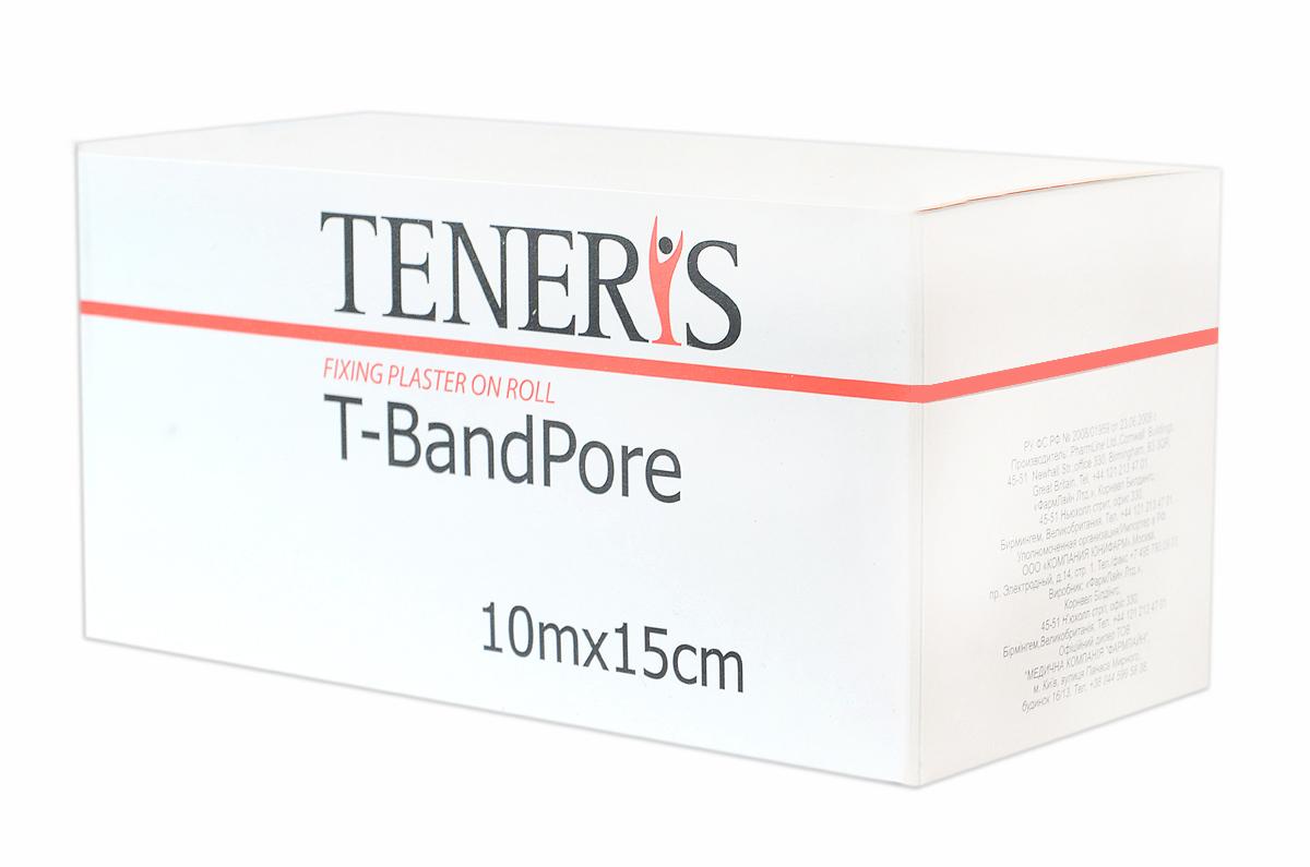Teneris Адгезивный бинт на нетканной основе T-BandPore, д 75 х ш 75 х в 152БУ-00000316Т-БендПор - фиксирующий пластырь в рулоне на основе хирургического нетканного материала. При наложении повторяет контуры частей тела, не нарушает подвижность суставов. Обладает высокой паро- и воздухопроницаемостью. Показания: для фиксации защитных повязок, тампонов, зондов и катеторов. Гипоаллергенный полиакрилатный клей отрывается без боли. Применение: отрезать необходимую часть пластыря, снять защитные полоски с клеевой поверхности и зафиксировать повязку. Менять ежедневно или по мере необходимости. Размер 10м х 15см