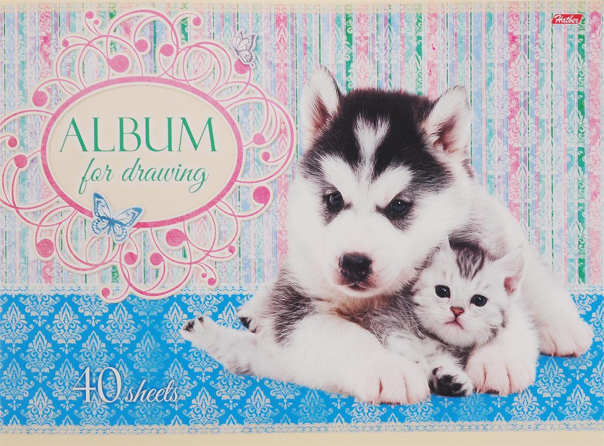 Hatber Альбом для рисования Хаски и котенок 40 листов72523WDАльбом для рисования на скрепках Hatber Хаски и котенок непременно порадует маленького художника и вдохновит его на творчество.Альбом изготовлен из белоснежной офсетной бумаги с яркой обложкой из мелованного картона, оформленной изображением очаровательного Хаски и серого котенка. Внутренний блок альбома состоит из 40 листов бумаги. Высокое качество бумаги позволяет рисовать в альбоме карандашами, фломастерами, акварельными и гуашевыми красками. Рекомендуемый возраст от 6 лет.