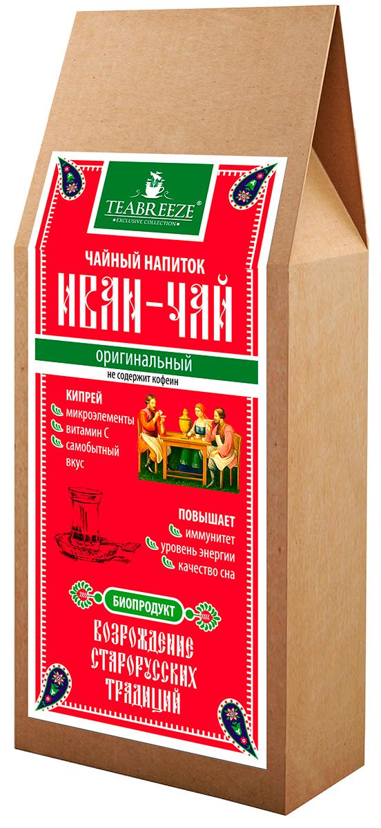 Teabreeze Иван-чай оригинальный чайный напиток, 50 гTB 2101-50Чайный напиток ИВАН-ЧАЙ изготавливается по специальному старорусскому рецепту из листьев Кипрея узколистного. Благодаря процессу ферментации данный напиток имеет золотисто-коричневый цвет и оригинальный, самобытный вкус. Кипрей содержит микроэлементы, Витамин С. Повышает иммунитет, уровень энергии и улучшает качество сна.