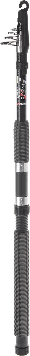Удилище спиннинговое SWD Bull-Paul, телескопическое, 2,7 м, 30-60 гPGPS7797CIS08GBNVУдилище спиннинговое SWD Bull-Paul изготовлено из высококачественного стеклопластика, что обеспечивает ему легкость и прочность. Телескопическая конструкция обеспечивает изделию легкость транспортировки, вы сможете взять его с собой куда угодно. Удилище оснащено металлическими кольцами. Ручка из мягкого неопрена не выскальзывает из рук, приятна на ощупь.Дополнительно может использоваться в качестве донного или поплавочного удилища.