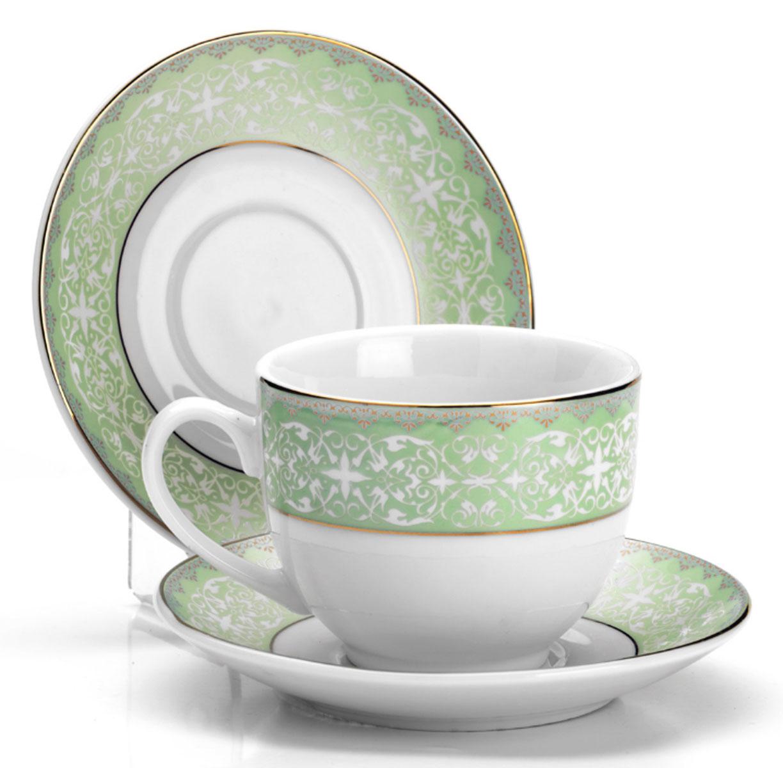 Набор чайный Loraine, 12 предметов. 25900AK1508-XY-Y15Чайный набор состоит из 6 чашек и 6 блюдец, выполненных из фарфора.Диаметр чашки: 8,5 см.Высота чашки: 7,5 см.Объем чашки: 220 мл.Диаметр блюдца: 14 см.