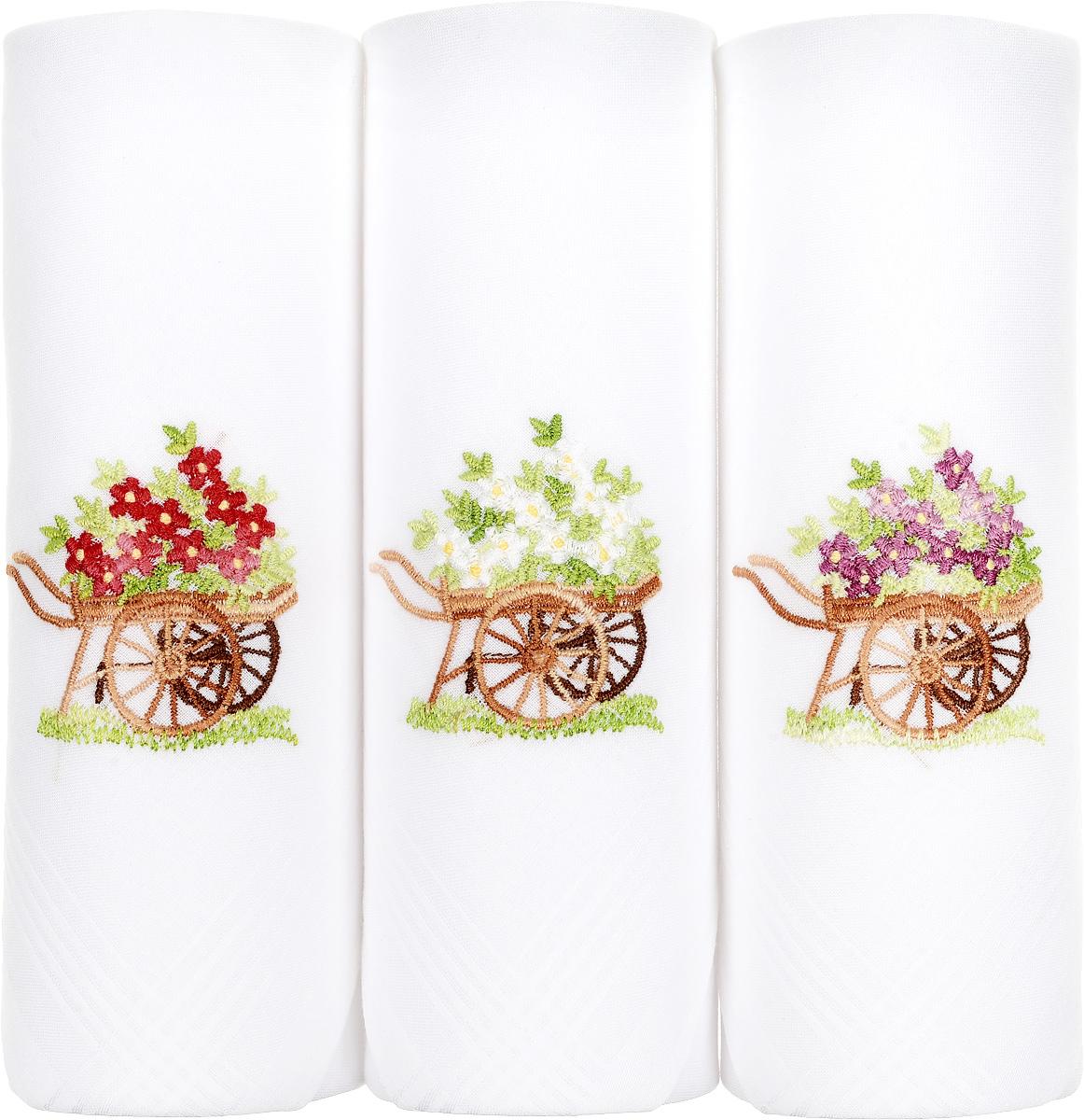 Платок носовой женский Zlata Korunka, цвет: белый, 3 шт. 06601-10. Размер 30 см х 30 см39864|Серьги с подвескамиНебольшой женский носовой платок Zlata Korunka изготовлен из высококачественного натурального хлопка, благодаря чему приятен в использовании, хорошо стирается, не садится и отлично впитывает влагу. Практичный и изящный носовой платок будет незаменим в повседневной жизни любого современного человека. Такой платок послужит стильным аксессуаром и подчеркнет ваше превосходное чувство вкуса.В комплекте 3 платка.