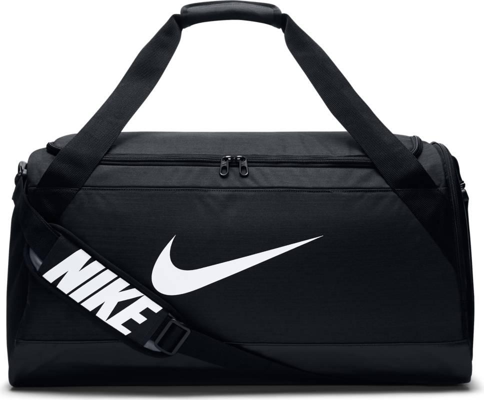 Сумка спортивная Nike Brasilia Medium Duffel Bag, цвет: черный. BA5334-010BA5334-010Сумка-дафл Nike Brasilia (средний размер) выполнена из невероятно прочной ткани для переноски спортивной экипировки. Внутренние карманы помогают держать вещи в порядке, а отделение для обуви позволяет хранить влажную экипировку отдельно от сухой.Особенности: Прочная водонепроницаемая ткань дна защищает экипировку от влаги. Вместительное и универсальное основное отделение. Вентилируемое отделение для хранения влажной/сухой обуви. Водонепроницаемый полиэстер высокой плотности отличается прочностью. Универсальное вместительное основное отделение оснащено двойной молнией. Двойные ручки можно соединить вместе для удобного ношения. Мягкая плечевая лямка снимается и регулируется для комфортного ношения.