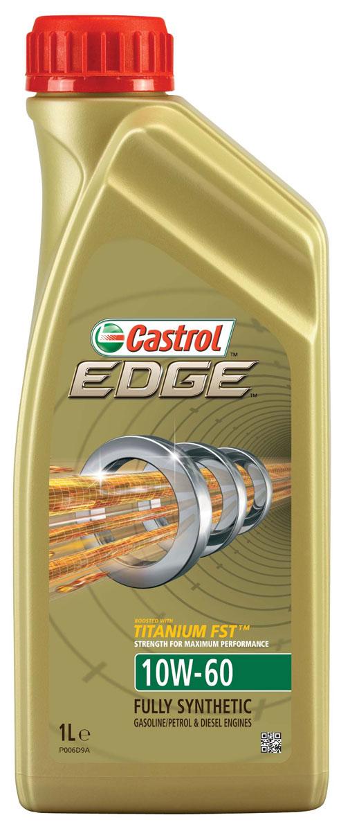 Масло моторное Castrol Edge, синтетические, 10W-60, 1 л9043Полностью синтетическое моторное масло Castrol Edge произведено с использованием новейшей технологии Titanium FST, придающей масляной пленке дополнительную силу и прочность благодаря соединениям титана. Castrol Edge радикально меняет поведение масла в условиях экстремальных нагрузок, формируя дополнительный ударопоглощающий слой. Castrol Edge в 2 раза увеличивает прочность пленки, предотвращая ее разрыв и снижая трение для максимальной производительности двигателя. С Castrol Edge ваш автомобиль готов к любым испытаниям независимо от дорожных условий.Применение: Castrol Edge предназначено для двигателей суперкаров, включая Aston Martin V8 Vantage S, Ferrari F12 Berlinetta, Ferrari FF, в которых производитель рекомендует применять моторные масла, соответствующие классу вязкости SAE 10W-60 и отраслевому стандарту ACEA A3/B4.Castrol Edge одобрено для моторов суперкаров: Audi R8 V10 GT, Bugatti Chiron, Bugatti Veyron, требующих использования смазочных материалов, апробированных согласно спецификациям VW 501 01/ 505 00. Castrol Edge одобрено для применения в двигателях Koenigsegg, предписано BMW для моторов моделей BMW М-серии. Может также использоваться в другой автомобильной технике.Моторное масло Castrol Edge поддерживает максимальную эффективность работы двигателя, как в краткосрочном периоде времени, так и на длительный срок эксплуатации; обеспечивает непревзойденный уровень защиты мотора в разных условиях движения и широком диапазоне температур; подавляет образование отложений, способствуя повышению скорости реакции двигателя на нажатие педали акселератора; протестировано в ведущих мировых суперкарах.Спецификации: ACEA A3/B3, A3/B4API SN/CFApproved for BMW M-ModelsKoenigsegg ApprovedVW 501 01/ 505 00.Товар сертифицирован.