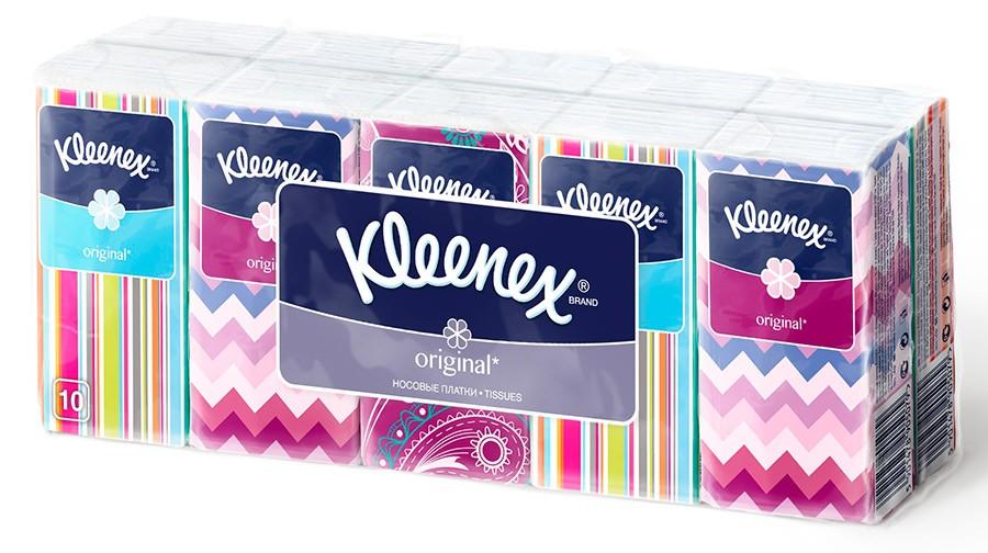 Kleenex Платочки носовые белые Original 10 х 10 штSatin Hair 7 BR730MNМягкость этих платочков и белоснежный цвет являются эталоном среди платочков Клинекс