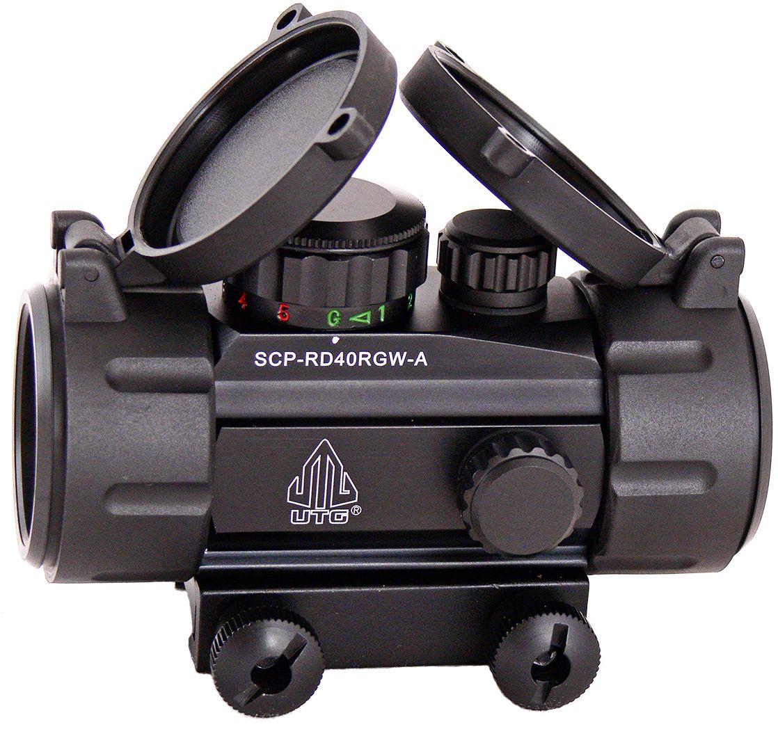 Прицел коллиматорный UTG Leapers New Gen 1x30 закрытыйSCP-RD40RGW-AКоллиматор Leapers UTG New Gen 1x30 закрытый. Арт. SCP-RD40RGW-AКомпания Leapers, Inc. расположенная в штате Мичиган, производит и продает прицелы для спорта и охоты начиная с 1992 года. Продукция разработана в США и изготовлена под строгим контролем на производствах в США или в Азиатском регионе. Дилерская сеть компании включает в себя более 70 стран, где бренд Leapers (UTG) доказал, что он один из лучших по соотношению цена/качество и заслуживает доверия потребителя.Эта модель представляет собой небольшой коллиматорный прицел для установки на боевые модели карабинов и пистолетов, а также на охотничьи ружья, оснащенные планкой Weaver/Picatinny. Тип: закрытыйУвеличение (х): 1Прицельная марка: точкаПодсветкаприцельной марки: 2 цвета (красный/зеленый), 5 уровней яркостиДиаметр объектива: 30 ммДиаметр трубки прицела: 38 ммДлина прицела: 95 ммМатериал: высокопрочный авиационный алюминиевый сплавТип батареи: CR2032 3VКрепление: интегрированное небыстросъемное на Weaver/PicatinnyСовместимость с приборами ночного видения: нетСовместимость с увеличителем SCP-MF3WEQS: нетВес: 265 гВес с упаковкой: 370 гРазмер упаковки (ДхШхВ): 14х8х6 смГарантия: 1 годКомплектация:- коллиматорный прицел- батарея CR2032 3V- салфетка для протирки оптики- крышки (flip-up) на объектив и окуляр.