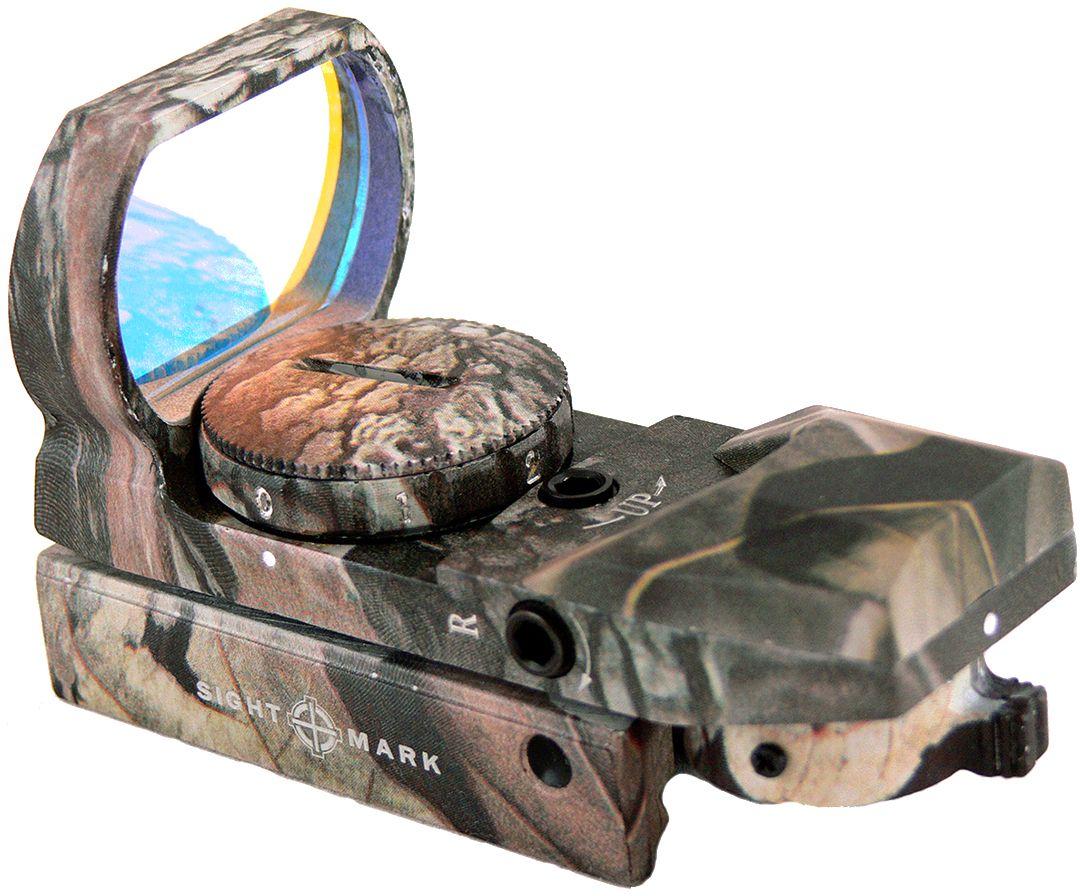 Прицел коллиматорный  Sightmark , панорамный камуфляжный на планку 11 мм, со сменной маркой - Стрелковый спорт