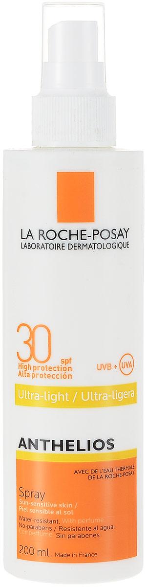 La Roche-Posay Спрей для лица и тела Anthelios SPF30+, 200 мл la roche posay hydraphase intense маска 50 мл
