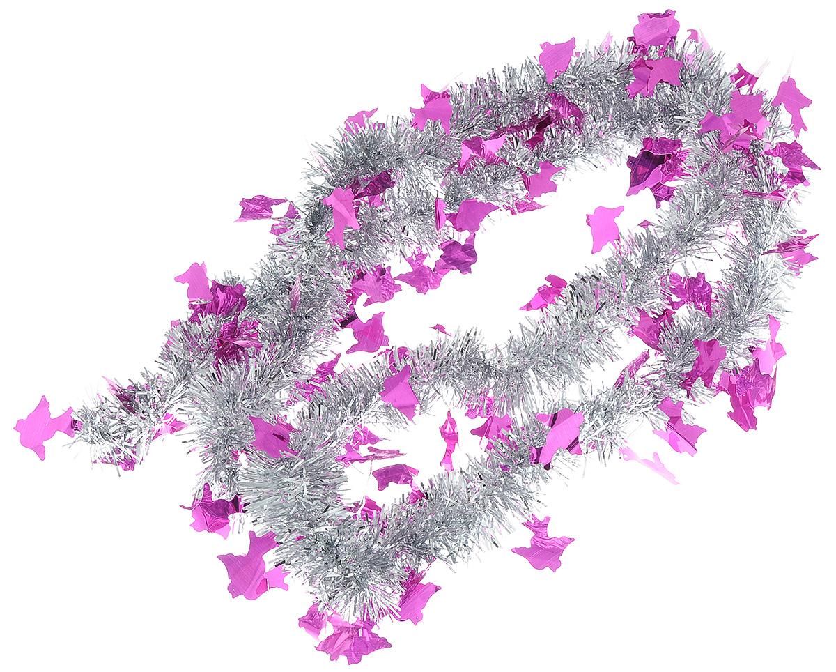 Мишура новогодняя Sima-land, цвет: серебристый, малиновый, диаметр 5 см, длина 2 м. 702618CHL-320SNМишура новогодняя Sima-land, выполненная из двухцветной фольги, поможет вам украсить свой дом к предстоящим праздникам. Мишура армирована, то есть имеет проволоку внутри и способна сохранять приданную ей форму.Новогодняя елка с таким украшением станет еще наряднее. Новогодней мишурой можно украсить все, что угодно - елку, квартиру, дачу, офис - как внутри, так и снаружи. Можно сложить новогодние поздравления, буквы и цифры, мишурой можно украсить и дополнить гирлянды, можно выделить дверные колонны, оплести дверные проемы.Коллекция декоративных украшений из серии Зимнее волшебство принесет в ваш дом ни с чем несравнимое ощущение праздника! Создайте в своем доме атмосферу тепла, веселья и радости, украшая его всей семьей.