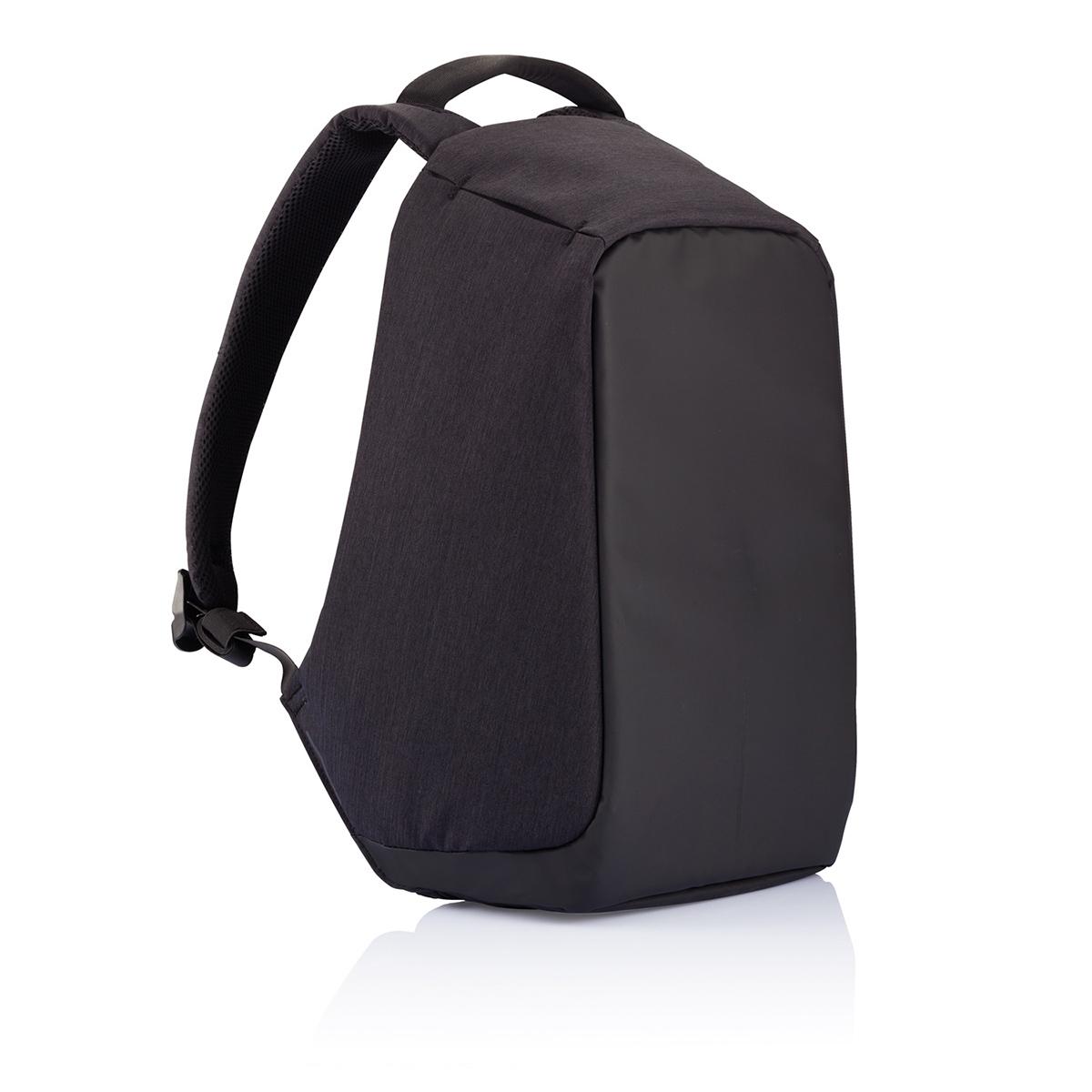 Рюкзак для ноутбука до 15 XD Design Bobby, цвет: черный. Р705.545Гризли• Полная защита от карманников: не открыть, не порезать• USB-порт для зарядки гаджетов от спрятонного внутри рюкзака аккумулятора• Светоотражающие полосы• Супер-легкий: на 25% легче аналогов• Отделение для ноутбука до 15,6• Отделение для планшета• Влагозащита• Лямка для крепления на чемодан
