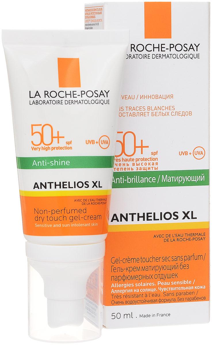La Roche-Posay Гель-крем матирующий Anthelios XL SPF50+, 50 мл20013411Матирующий гель-крем Anthelios SPF 50+ разработан специально для фотозащиты жирной проблемной кожи. Благодаря уникальной формуле, средство не только защищает кожу от UVA- и UVB-лучей, но и контролирует источники жирного блеска: себум и пот.Функцию себорегулирования выполняет молекула Airlicium, которая, словно невидимая вуаль, покрывает кожу и делает ее матовой и нежной.