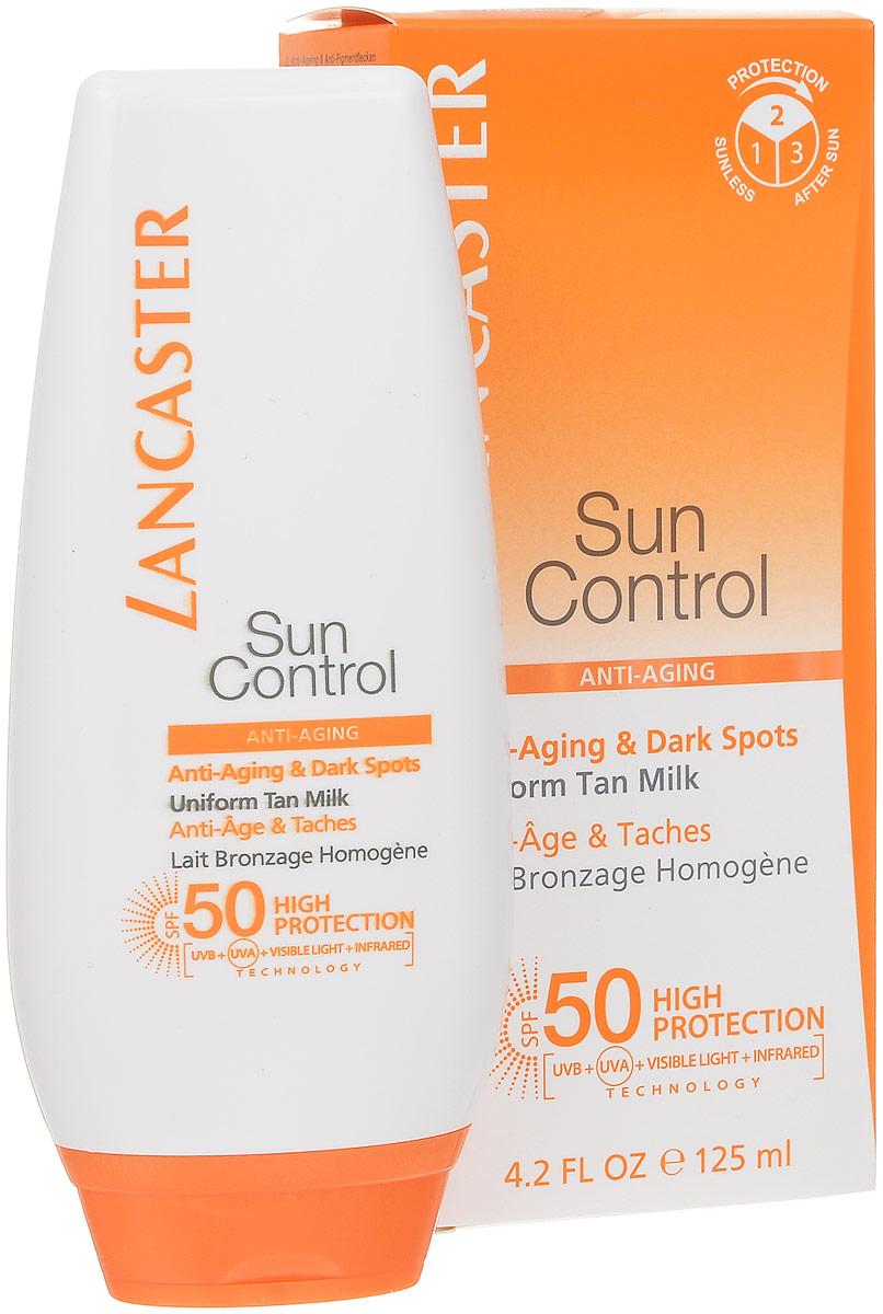 Lancaster Sun Control Солцезащитное антивозрастное молочко Сияющий загар для тела против пигментных пятен для чувствительной к солнечному воздействию кожи. фактор защиты 5040377627100Лёгкий крем SPF 50 для лица, шеи и декольте идеально защищают кожу от старения, вызванного солнцем.Full Light Technology – полная защита от всех видов лучей УФИ. Поглащение Фотостабильные высокоэффективные фильтры, Tinosorb М. Отражение: Пудра рубина, слюда, Диоксид титана + Bio Glass M Нейтрализация: Антиоксидантный комплекс+ витамин С+Е+ масло облепихи.Lancaster Sun Control Anti-Ageing & Dark Spots Sun Sensitive Skin Uniform Tan Milk SPF50 | cолнцезащитное средство для тела.Фактор защиты-50.Обильно нанесите крем на лицо и область декольте перед выходом на солнце. Для поддержания эффективности солнцезащитного средства наносите его повторно, особенно после купания или после того, как вспотели или использовали полотенце, а также обновляйте средство во время пребывания на солнце. Недостаточное количество средства снижает уровень защиты кожи.