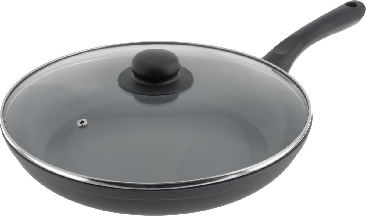 Сковорода NaturePan Classic Induction, с крышкой, с керамическим покрытием. Диаметр 28 см391602Сковорода NaturePan Classic Induction выполнена из алюминия и имеет современное керамическое антипригарное покрытие. Индукционное дно, выполненное из стали, равномерно распределяет тепло по всей поверхности сковороды, что улучшает качество приготовления пищи. Внутреннее - антипригарное экологически безопасное полимерное покрытие на водной основе. Внешнее - термостойкая силиконовая эмаль - покрытие обеспечивает легкую чистку. Эргономичная бакелитовая ручка, не нагревается, не скользит в руке и приятна на ощупь. Крышка, изготовленная из термостойкого стекла, оснащена ручкой и пароотводом. Такая крышка позволяет следить за процессом приготовления пищи без потери тепла. Она плотно прилегает к краю посуды, сохраняя аромат блюд.Яркие цвета внутреннего и внешнего покрытия подчеркивают изысканность блюда при приготовлении и создают атмосферу комфорта и уюта на любой кухне.Подходит для всех видов плит, включая индукционные.Диаметр: 28 см. Высота стенки: 5 см.Длина ручки: 18,5 см.Диаметр крышки: 28 см.