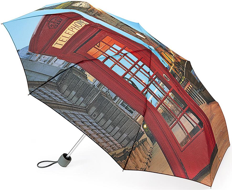 Зонт женский Fulton, механический, 3 сложения, цвет: мультиколор. L354-3348QA-11739-7Стильный механический зонт Fulton имеет 3 сложения, даже в ненастную погоду позволит вам оставаться стильной. Легкий, но в тоже время прочный алюминиевый каркас состоит из восьми спиц с элементами из фибергласса. Купол зонта выполнен из прочного полиэстера с водоотталкивающей пропиткой. Рукоятка закругленной формы, разработанная с учетом требований эргономики, выполнена из каучука. Зонт имеет механический способ сложения: и купол, и стержень открываются и закрываются вручную до характерного щелчка.