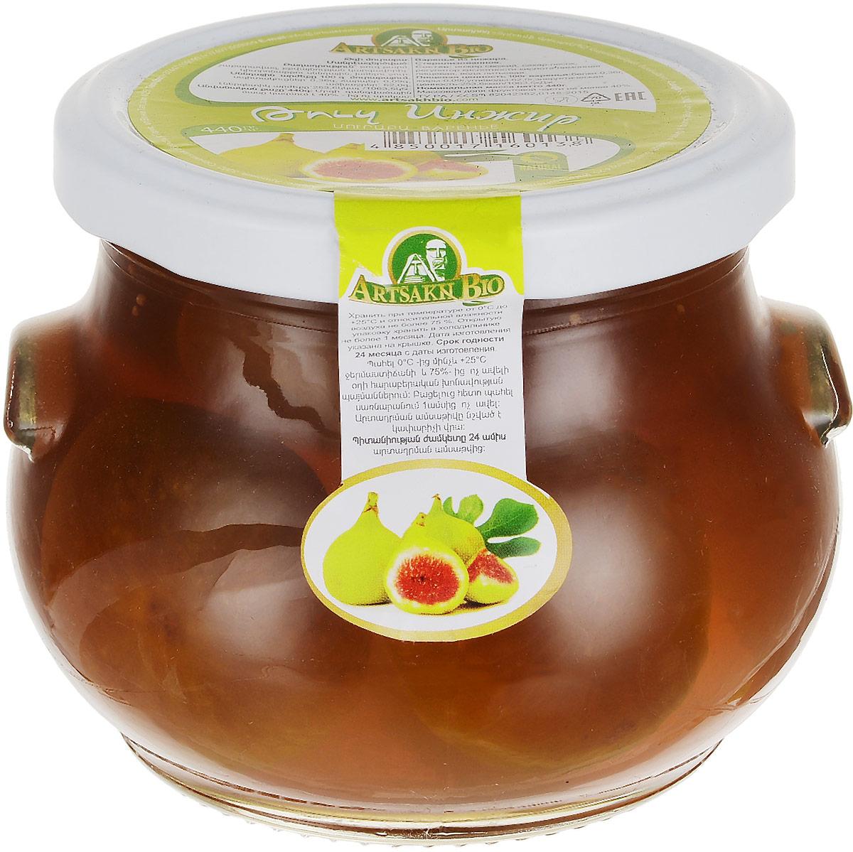 Artsakh Bio варенье из инжира, 440 г24401При производстве варенья Artsakh Bio используются фрукты, произрастающие исключительно на территории Армении и питающиеся ключевой водой горных источников. Обласканные горячим южным солнцем, они приобретают уникальный вкус и аромат, что и является одним из важных элементов качества варений Artsakh Bio.Продукт полностью производиться вручную, с использованием традиционных домашних рецептов армянской кухни.Варенье из инжира - это природная кладовая полезных веществ для организма человека. Соплодия инжира богаты аскорбиновой кислотой, витаминами группы B, минеральными веществами, сахарами, фосфором, калием, кальцием, железом, натрием и клетчаткой. Причем, что касается минеральных веществ, инжир можно смело назвать чемпионом среди фруктов по их содержанию.Уважаемые клиенты! Обращаем ваше внимание, что полный перечень состава продукта представлен на дополнительном изображении.