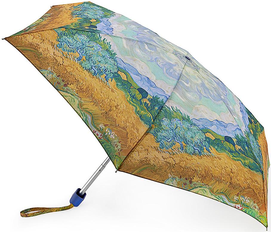 Зонт женский Fulton, механический, 5 сложений, цвет: золотистый, голубой. L794-2729CX1516-50-10Стильный механический зонт Fulton имеет 5 сложений, даже в ненастную погоду позволит вам оставаться стильной. Легкий, но в тоже время прочный алюминиевый каркас состоит из шести спиц с элементами из фибергласса. Купол зонта выполнен из прочного полиэстера с водоотталкивающей пропиткой. Рукоятка закругленной формы, разработанная с учетом требований эргономики, выполнена из каучука. Зонт имеет механический способ сложения: и купол, и стержень открываются и закрываются вручную до характерного щелчка.