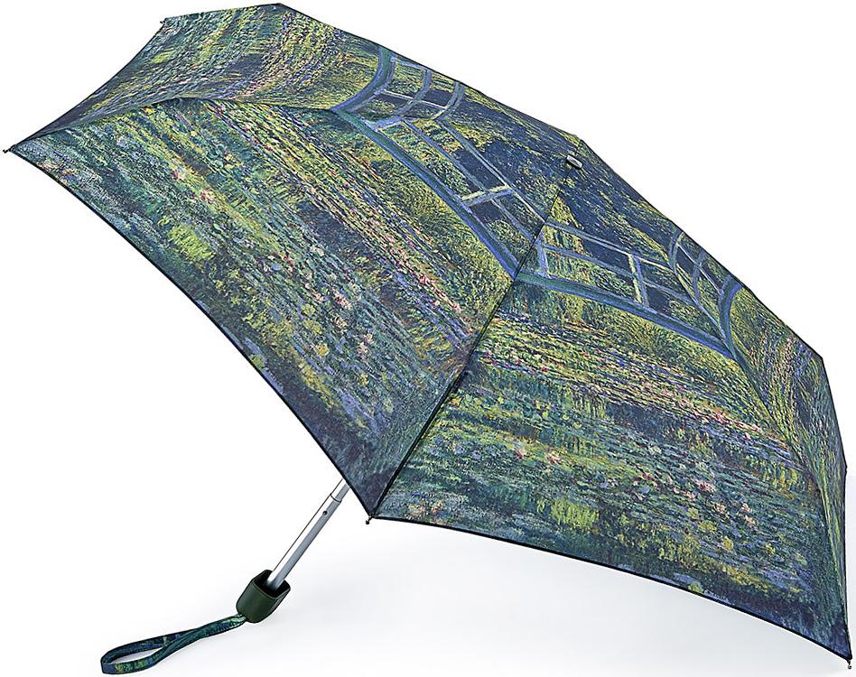 Зонт женский Fulton, механический, 5 сложений, цвет: зеленый, темно-синий. L794-2349CX1516-50-10Стильный механический зонт Fulton имеет 5 сложений, даже в ненастную погоду позволит вам оставаться стильной. Легкий, но в тоже время прочный алюминиевый каркас состоит из шести спиц с элементами из фибергласса. Купол зонта выполнен из прочного полиэстера с водоотталкивающей пропиткой. Рукоятка закругленной формы, разработанная с учетом требований эргономики, выполнена из каучука. Зонт имеет механический способ сложения: и купол, и стержень открываются и закрываются вручную до характерного щелчка.