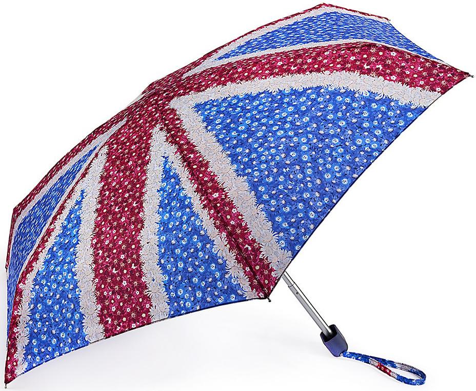 Зонт женский Fulton, механический, 5 сложений, цвет: красный, синий. L501-33262591АСтильный механический зонт Fulton имеет 5 сложений, даже в ненастную погоду позволит вам оставаться стильной. Легкий, но в тоже время прочный алюминиевый каркас состоит из шести спиц с элементами из фибергласса. Купол зонта выполнен из прочного полиэстера с водоотталкивающей пропиткой. Рукоятка закругленной формы, разработанная с учетом требований эргономики, выполнена из каучука. Зонт имеет механический способ сложения: и купол, и стержень открываются и закрываются вручную до характерного щелчка.