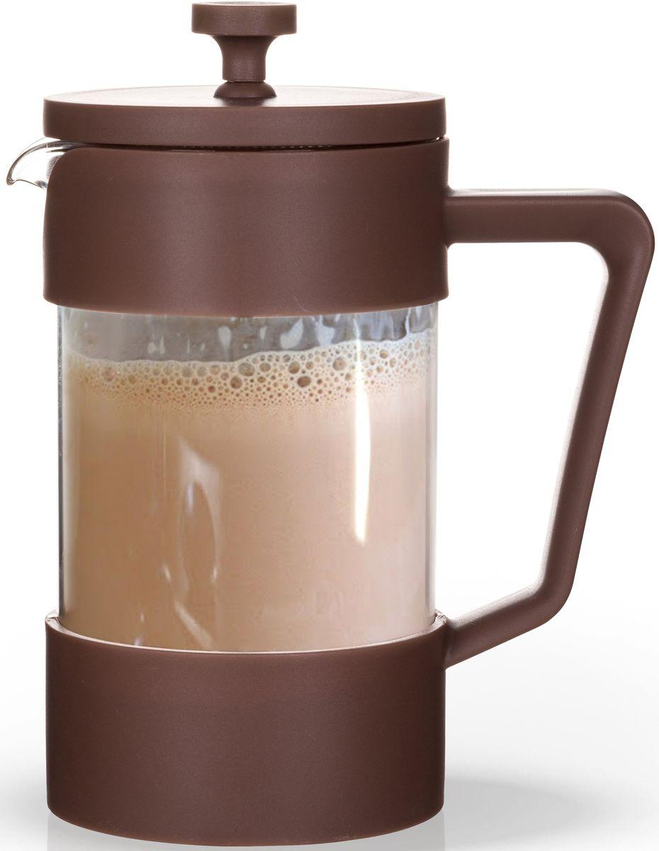 Заварочный чайник Fissman, с поршнем, 600 мл. 906054 009312Заварочный чайник Fissman изготовлен из жаропрочного стекла и пластика. Фильтр-поршень из нержавеющей стали оснащен ситечком для обеспечения равномерной циркуляцииводы. Засыпая чайную заварку или кофе под фильтр, заливаягорячей водой, вы получаете ароматный напиток с оптимальной крепостью и насыщенностью. Остановить процесс заваривания легко, для этого нужно просто опустить поршень, и все уйдет вниз, оставляя вверху напиток, готовый к употреблению. Изделие оснащено эргономичной ручкой, которая обеспечит безопасный и удобныйхват. Такой чайник позволит быстро и просто приготовить свежий и ароматный кофе или чай. Объем: 600 мл.