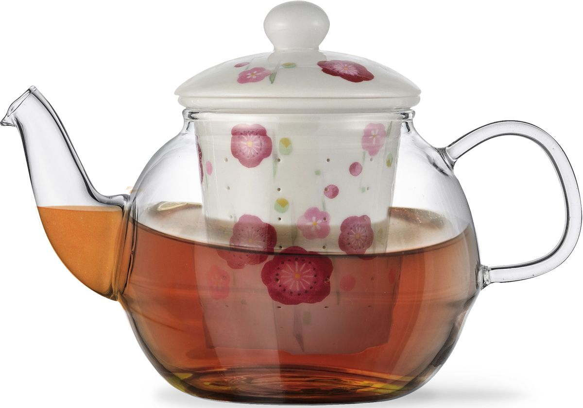 Заварочный чайник Fissman Casablanca, с керамическим фильтром и крышкой, 600 мл. 9276VT-1520(SR)Заварочный чайник Fissman Casablanca изготовлен из высококачественного жаропрочного стекла. Чайник оснащен удобной ручкой. Фильтр и крышка выполнены из керамики с цветочным узором. Красочность оформления придется по вкусу всем, кто предпочитаетутонченность и изысканность.Объем: 600 мл.